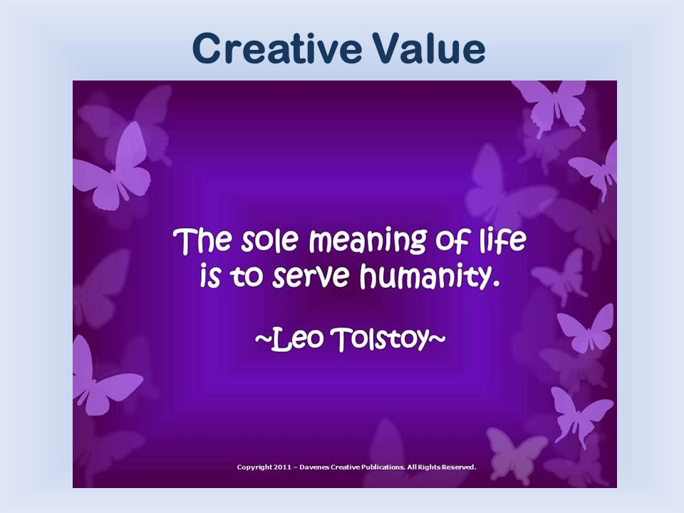 Creative Value