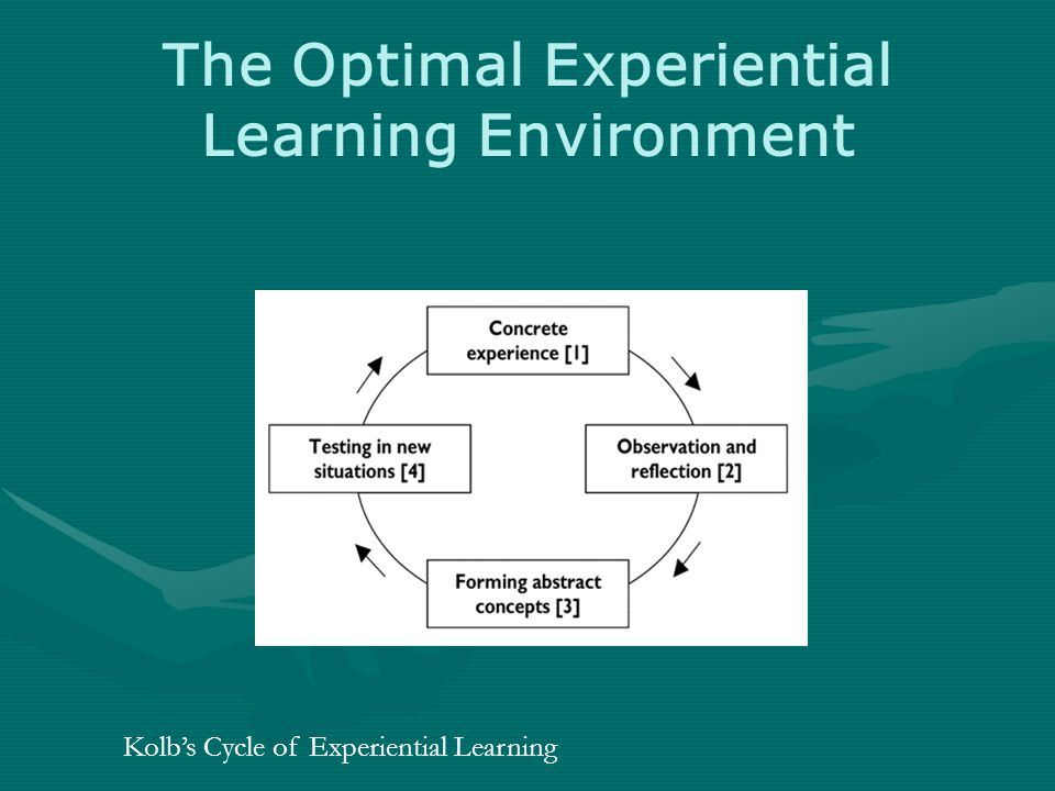 The Optimal Experiential Learning Environment Kolb's Cycle of Experiential Learning