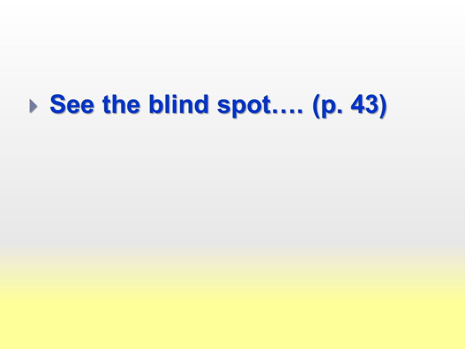  See the blind spot…. (p. 43)