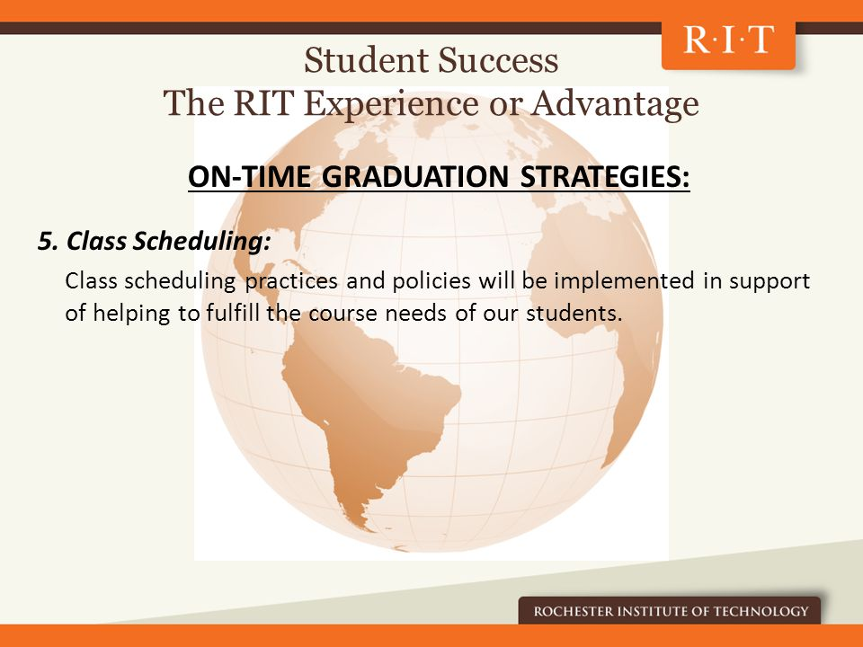 ON-TIME GRADUATION STRATEGIES: 5.