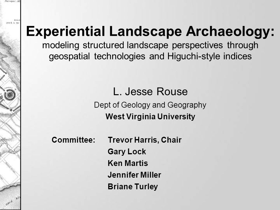Methods Build on cognitive, physiological and physical landscape Generalize visual landscape qualities GIS data analysis Dynamic factors - plumes, clouds, mist, smoke Link Higuchi to phenomenological approach –A structured landscape analysis 22