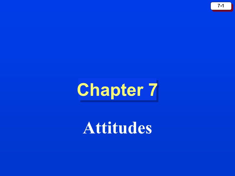 7-1 Chapter 7 Attitudes