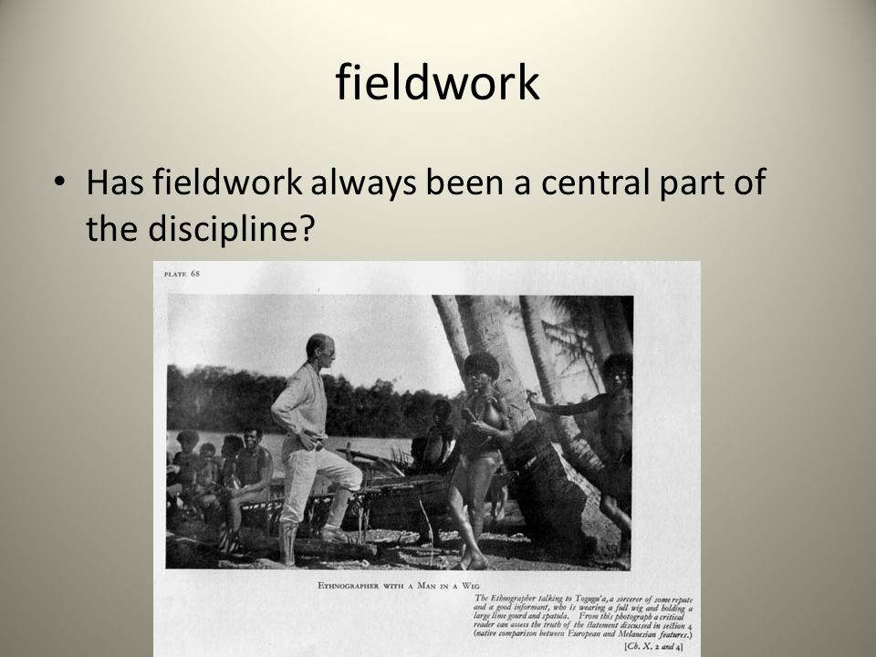 fieldwork Has fieldwork always been a central part of the discipline