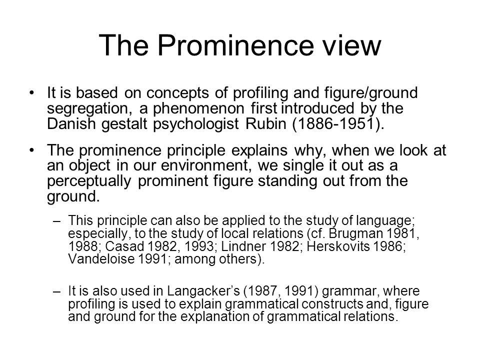 Figure-ground is another Gestalt psychology principle.