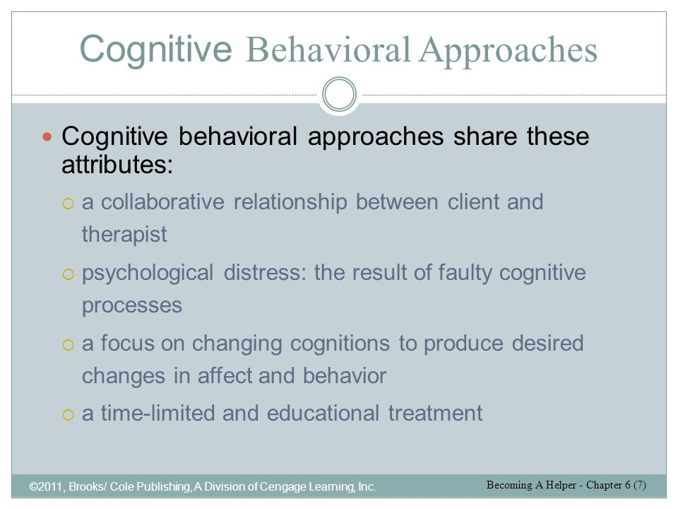Behavior Therapy ©2011, Brooks/ Cole Publishing, A Division of Cengage Learning, Inc.