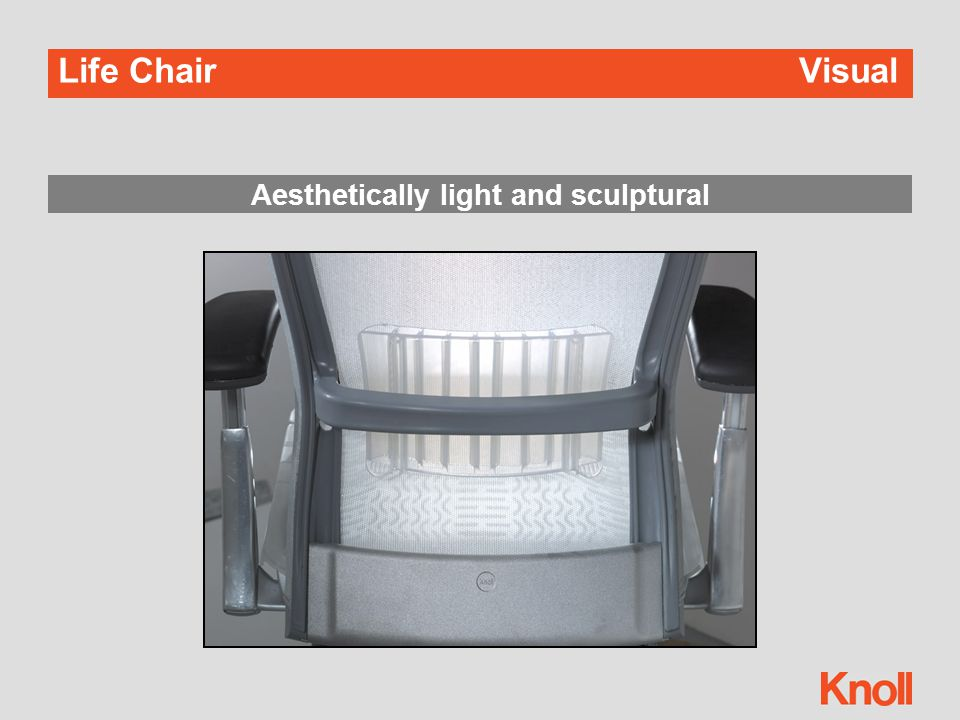 Life ChairVisual Aesthetically light and sculptural