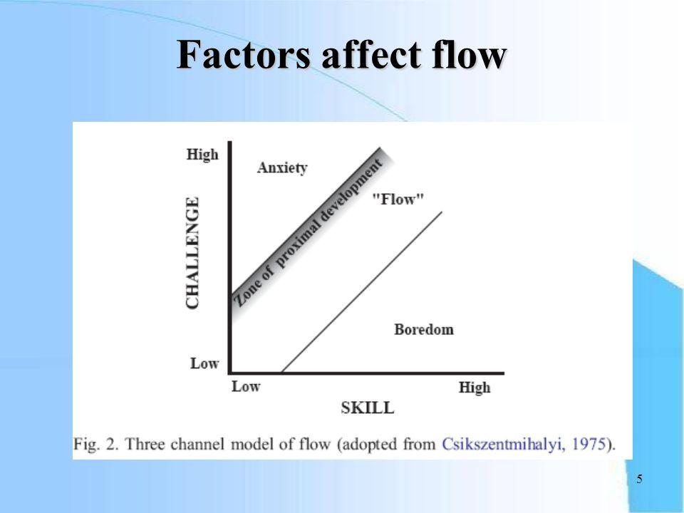 5 Factors affect flow