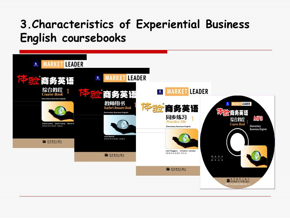 3.Characteristics of Experiential Business English coursebooks