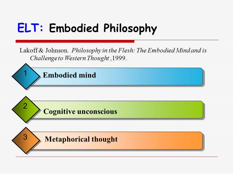 ELT: Embodied Philosophy Lakoff & Johnson.