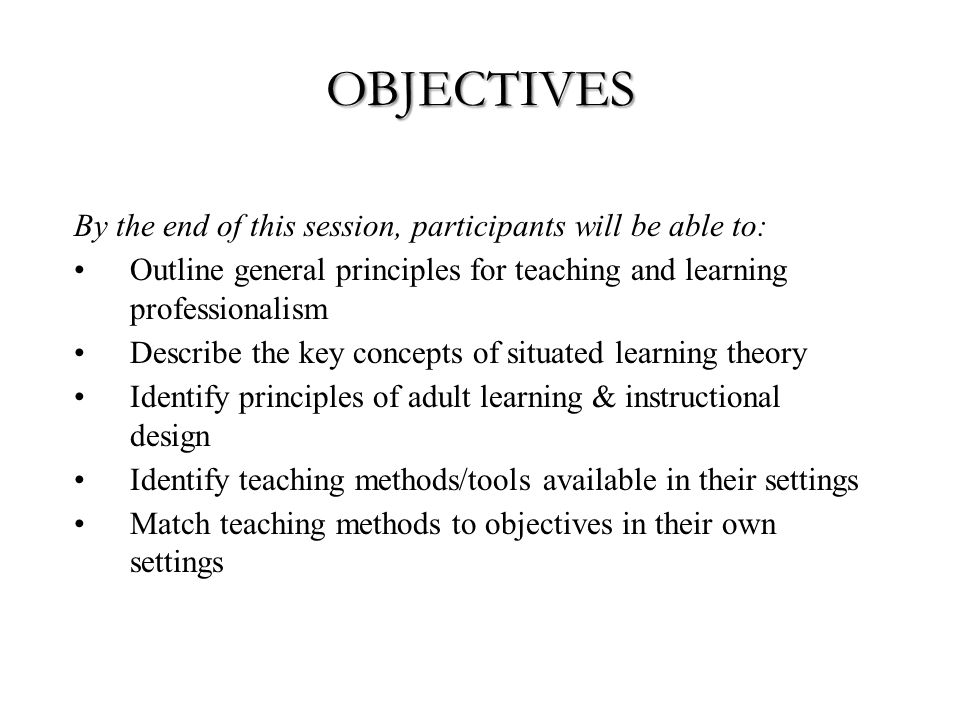 TEACHING AND LEARNING METHODS 1.Context 2.Different methods for different levels.