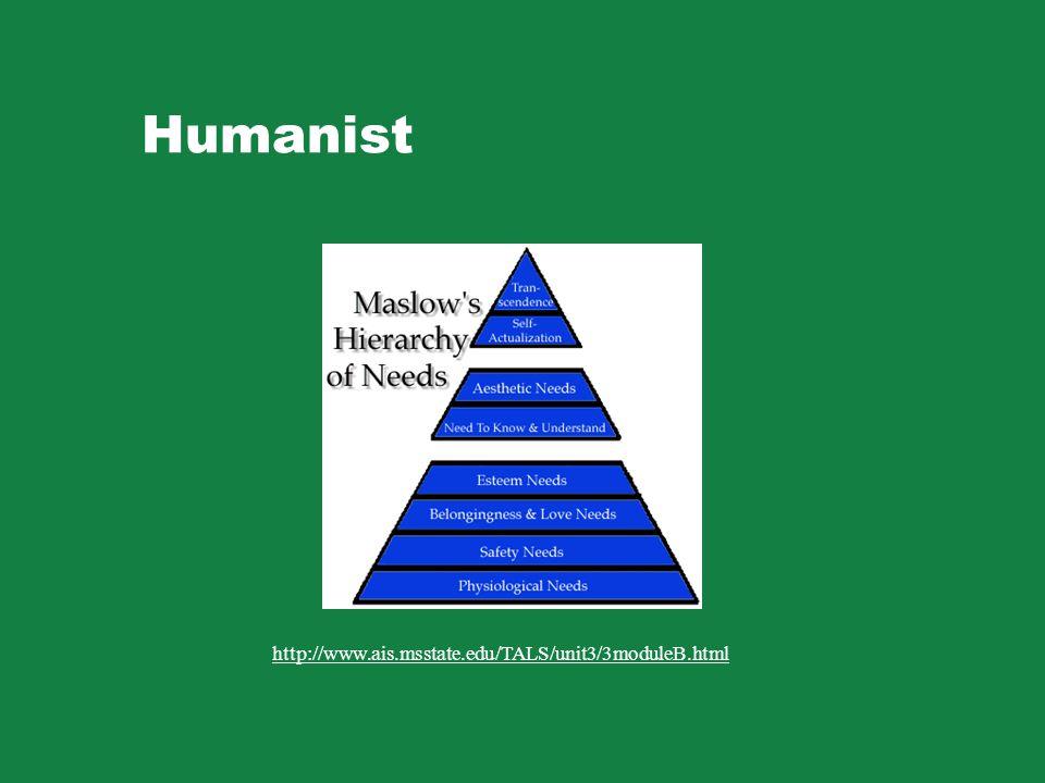 Humanist http://www.ais.msstate.edu/TALS/unit3/3moduleB.html