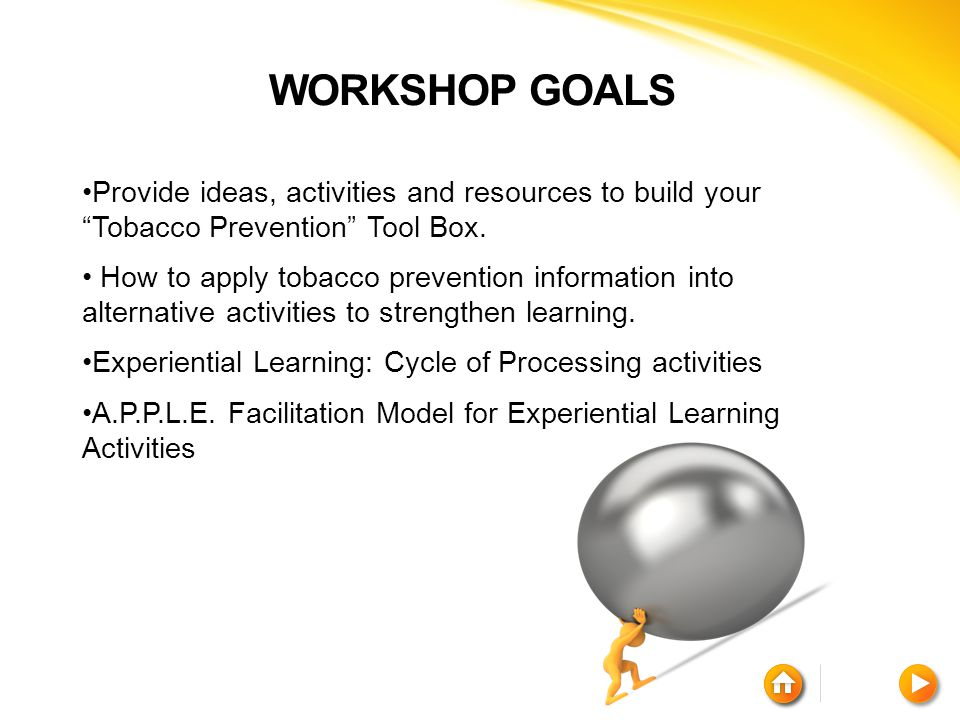 TOBACCO ALTERNATIVE ACTIVITY Activities under this strategy are designed to assist participants in mastering new skills and promote a sense of belonging, bonding and leadership with peers, family, and community.