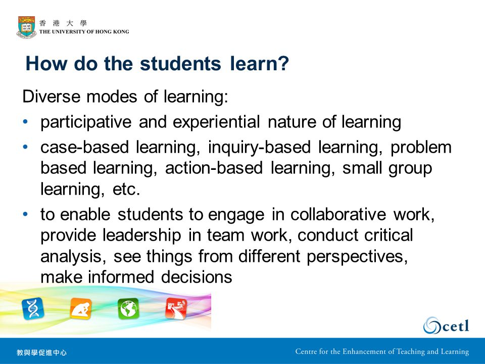 How do the students learn.