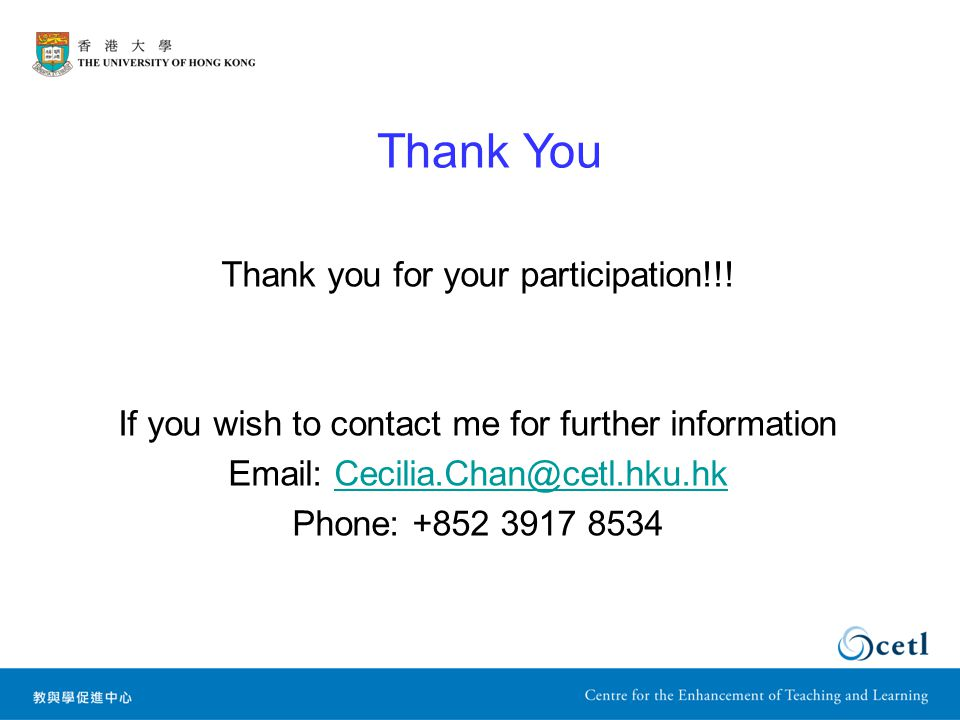 Thank you for your participation!!.