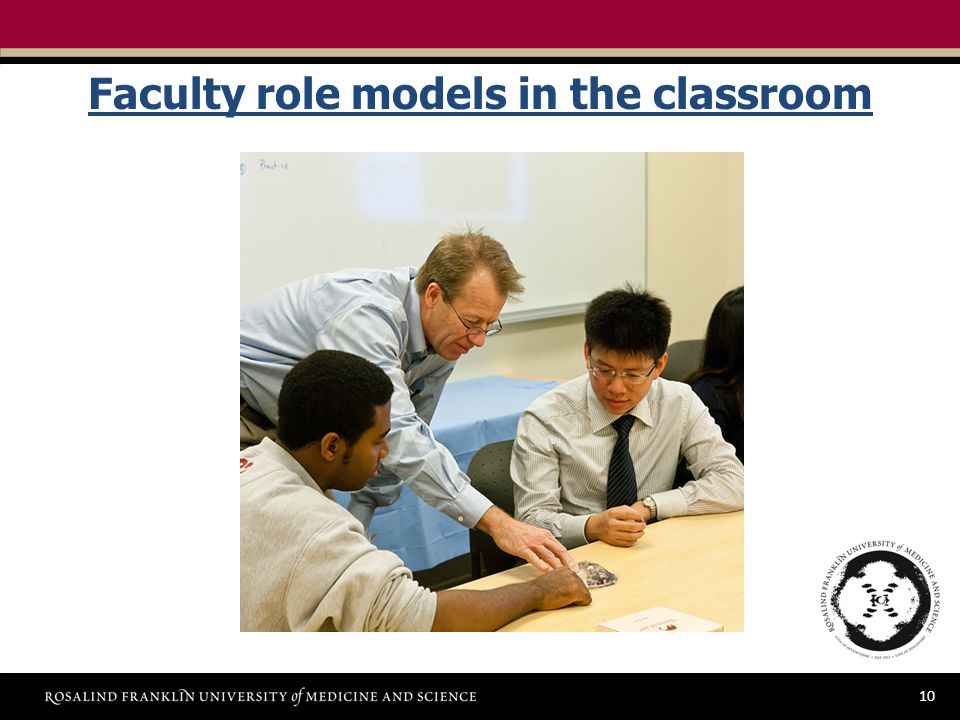 10 Faculty role models in the classroom