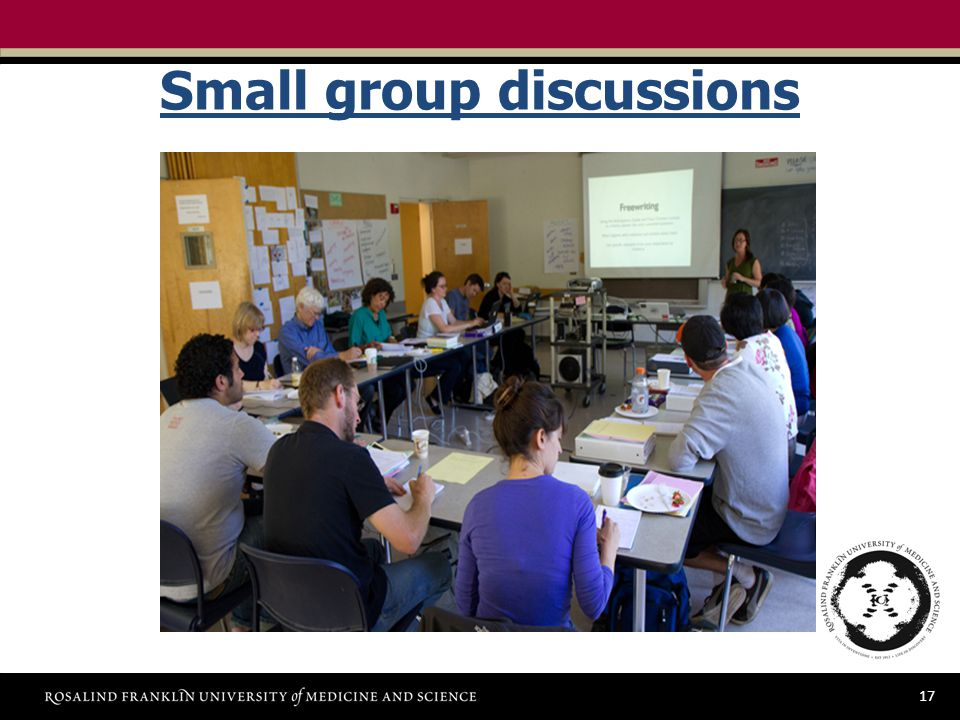 17 Small group discussions