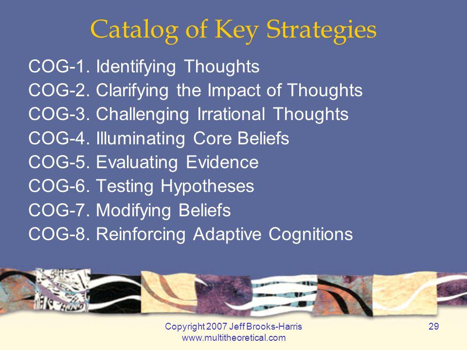 Copyright 2007 Jeff Brooks-Harris www.multitheoretical.com 29 Catalog of Key Strategies COG-1.