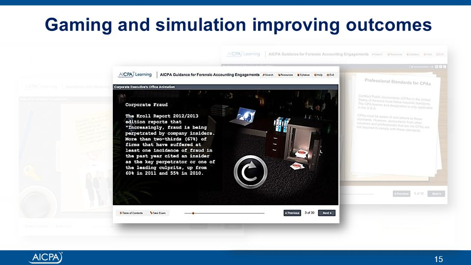 ® 15 Gaming and simulation improving outcomes