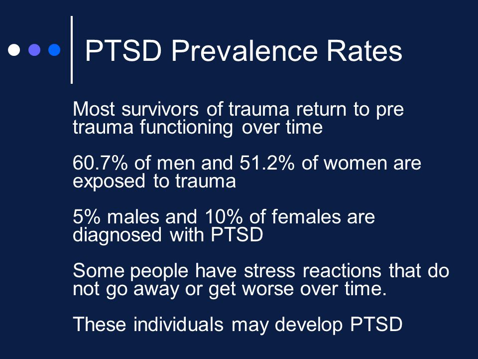 PTSD Prevalence Rates Combat exposure is one of the traumas, along with sexual assault, most commonly associated with the development of PTSD (Kessler, Sonnega, Bromet, Hughes & Nelson, 1995).