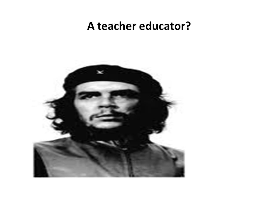 A teacher educator?