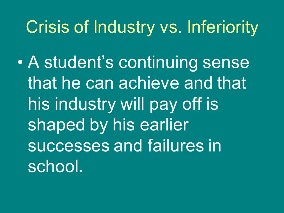 Crisis of Industry vs.