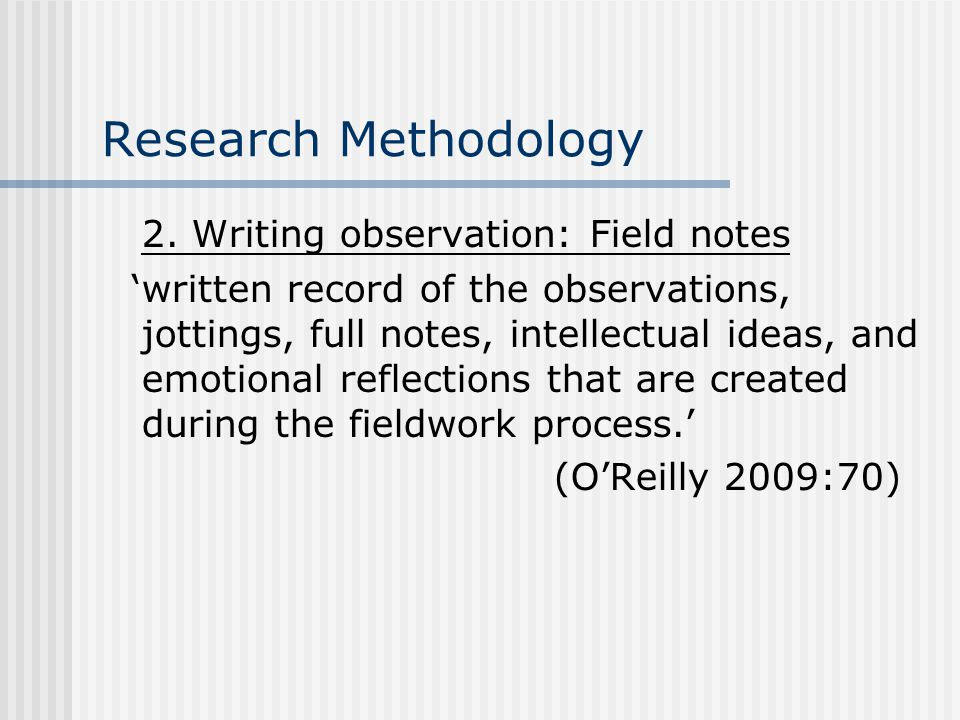 Research Methodology 2.