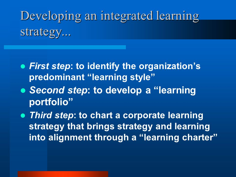 LOR # 6 LOR # 2 Example #3: Learning in for-profit organizations