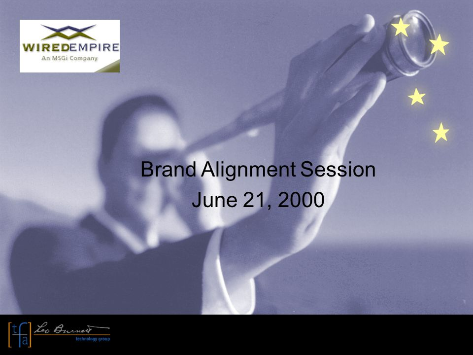 Brand Alignment Session June 21, 2000