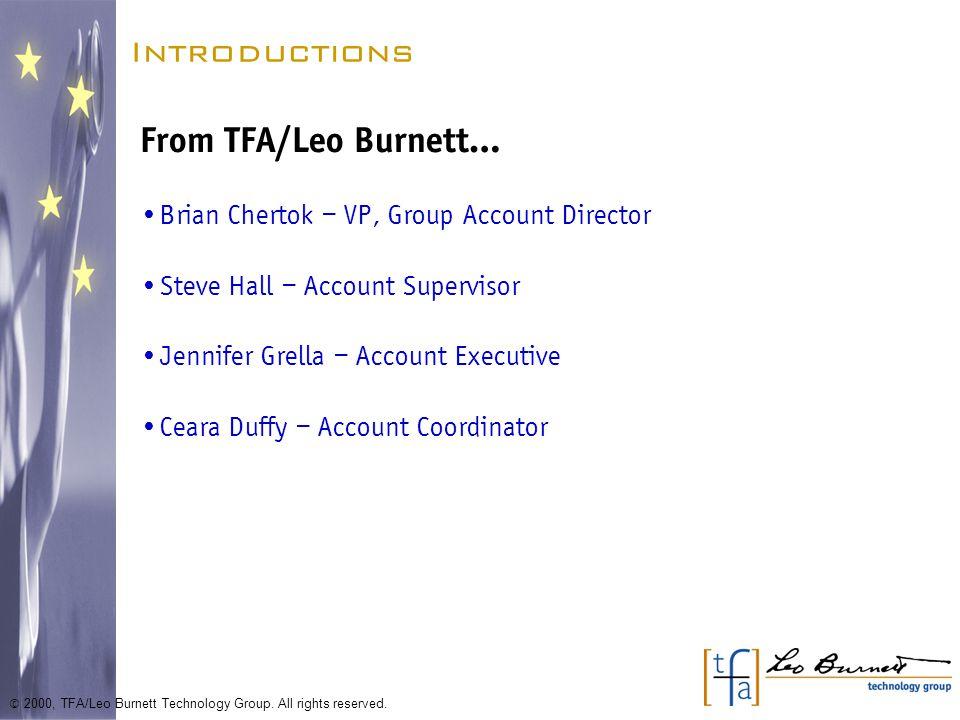 Exercise 1: Do you have your homework.© 2000, TFA/Leo Burnett Technology Group.