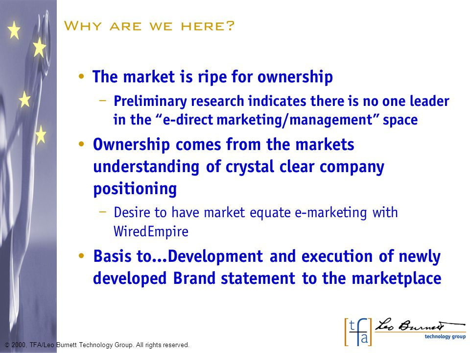 What does this help us define.What is your company's vision.