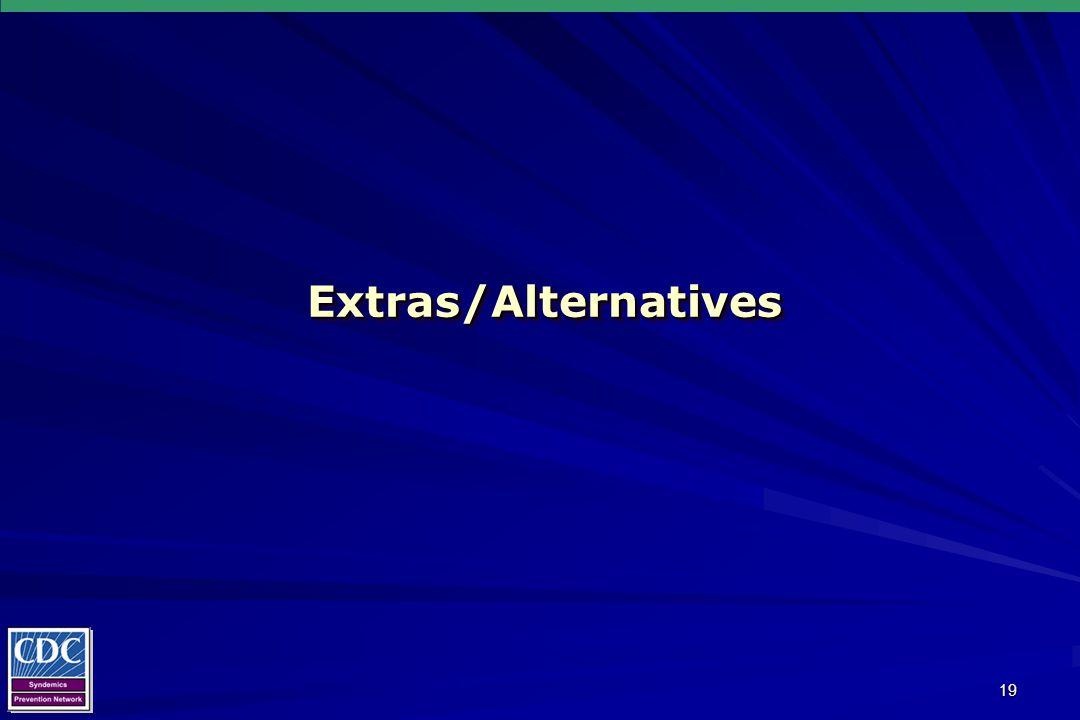 19 Extras/AlternativesExtras/Alternatives