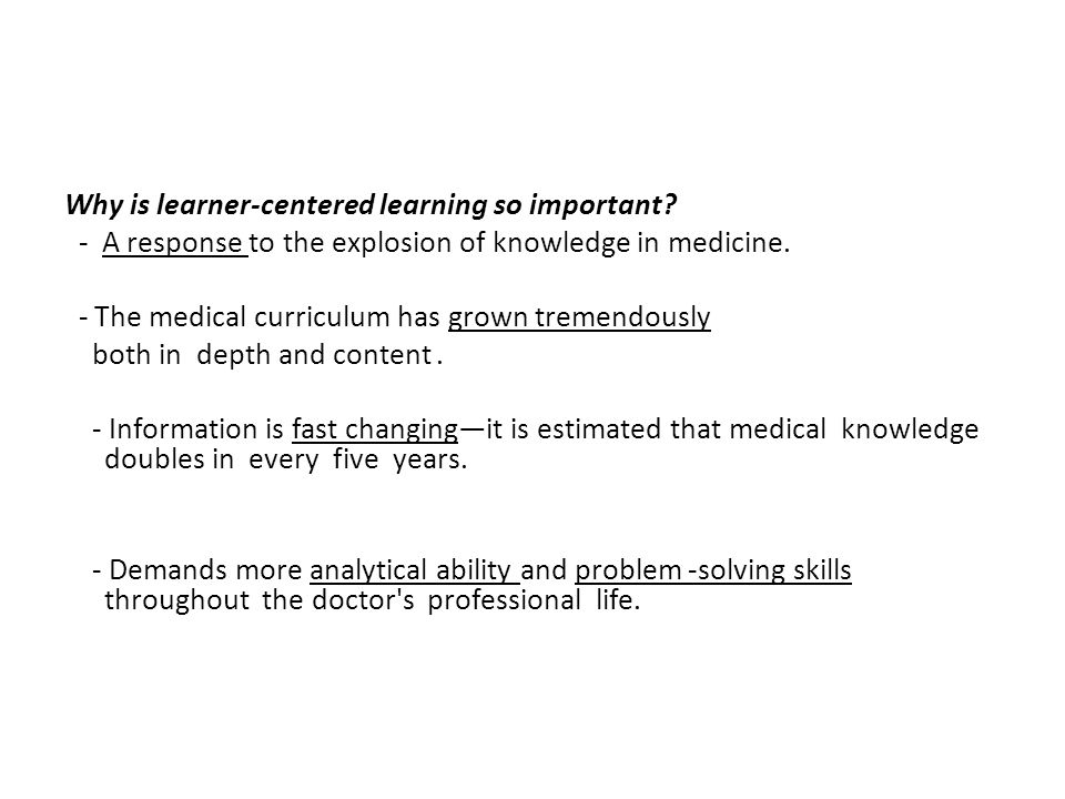 Why is learner-centered learning so important.