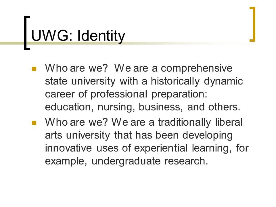 UWG: Identity Who are we.