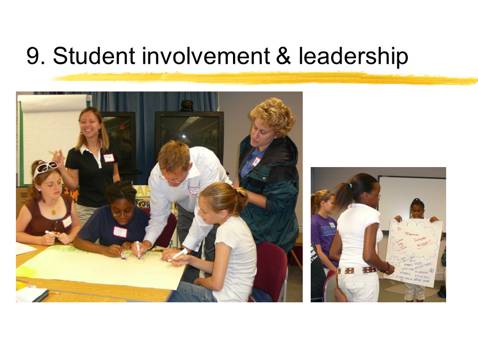 9. Student involvement & leadership