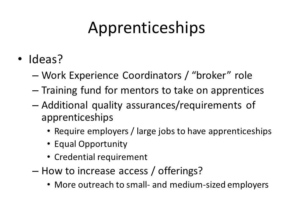 Apprenticeships Ideas.