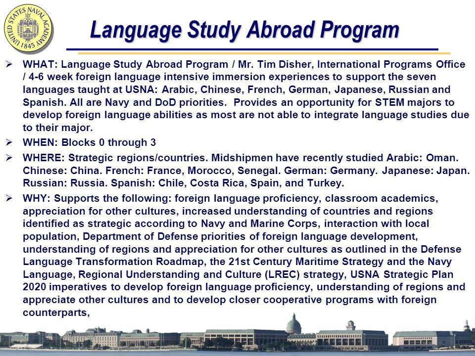 Language Study Abroad Program  WHAT: Language Study Abroad Program / Mr.