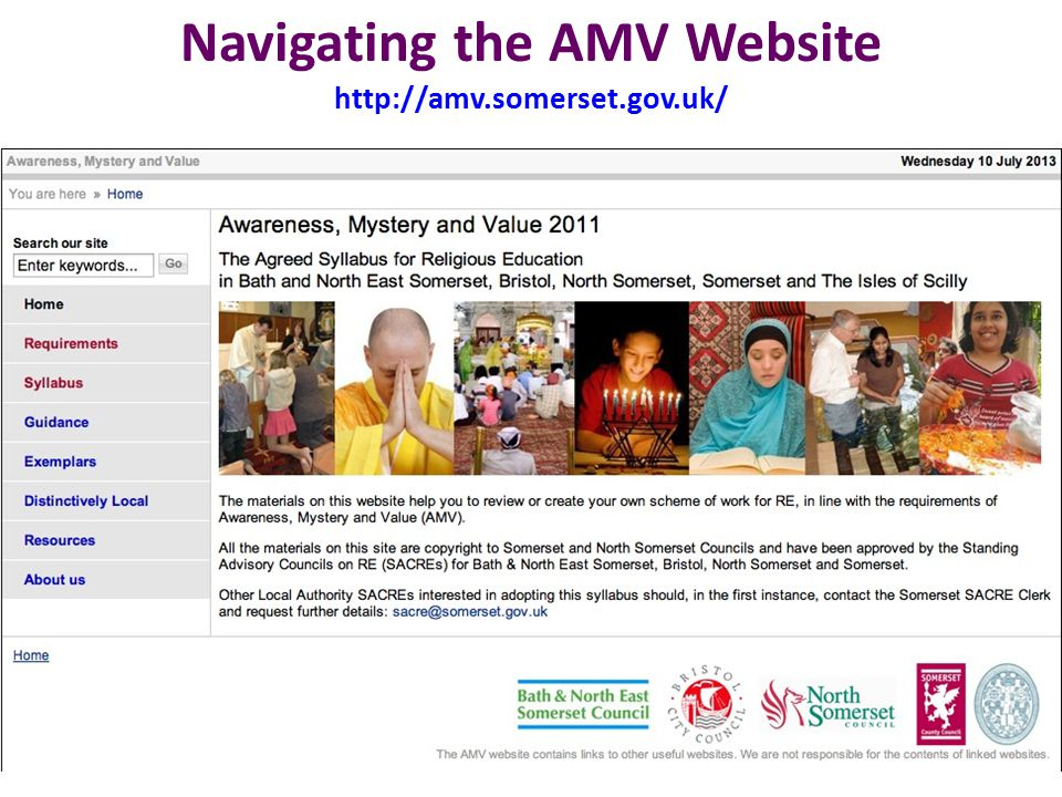 Navigating the AMV Website http://amv.somerset.gov.uk/ 11
