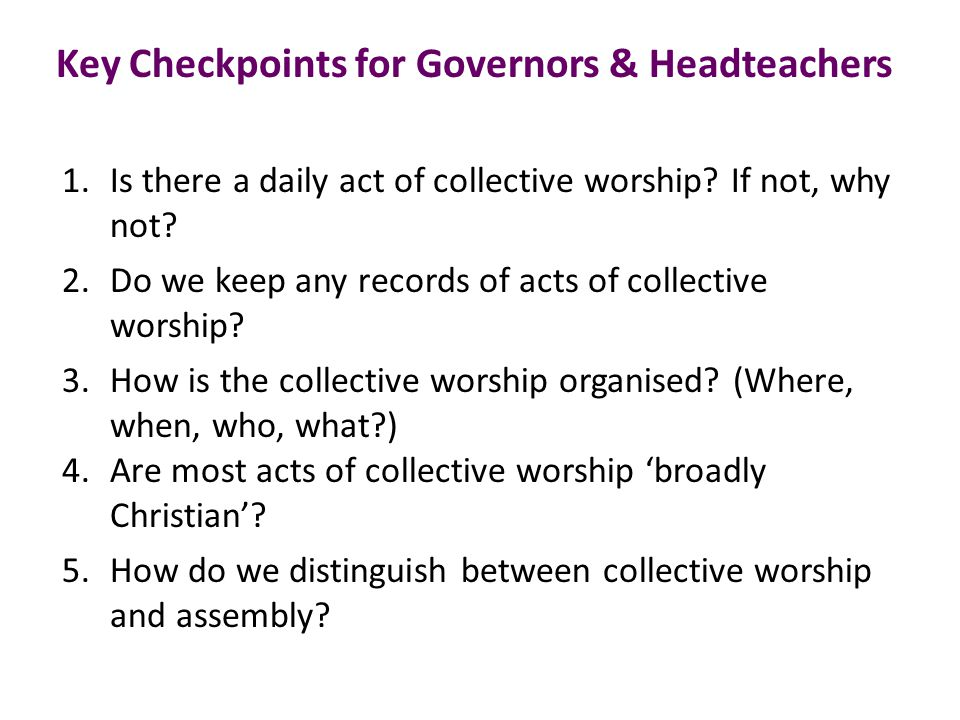 6.Do we know what we mean by collective as opposed to corporate worship.
