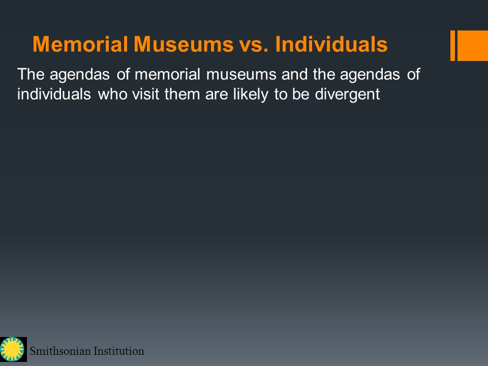 Smithsonian Institution Memorial Museums vs.