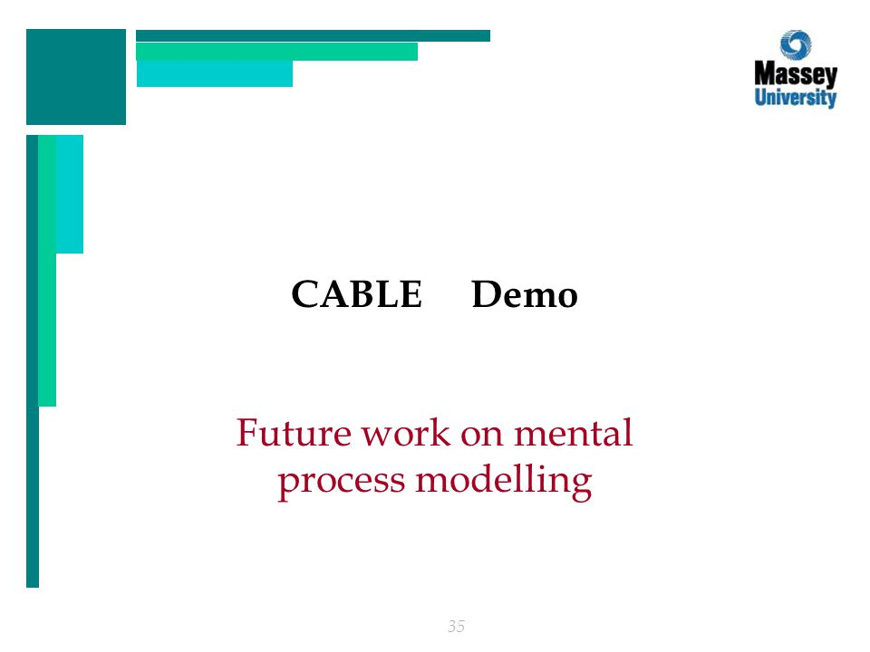 35 CABLE Demo Future work on mental process modelling