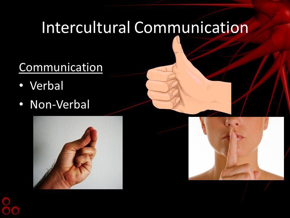 Intercultural Communication Communication Verbal Non-Verbal