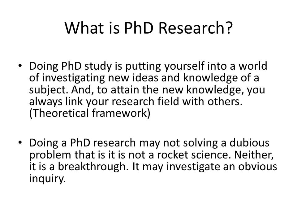 Novelty and Originality of a PhD Thesis Carrying out an empirical work that has not been done before Making a synthesis that has not been made before Making a new interpretation of known materials Bringing new evidence to bear on old use Being cross-disciplinary and using different methodologies Adding new knowledge to the current pool of knowledge