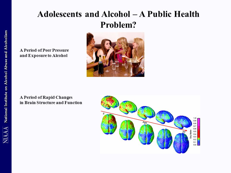 National Institute on Alcohol Abuse and Alcoholism Adolescents and Alcohol – A Public Health Problem.