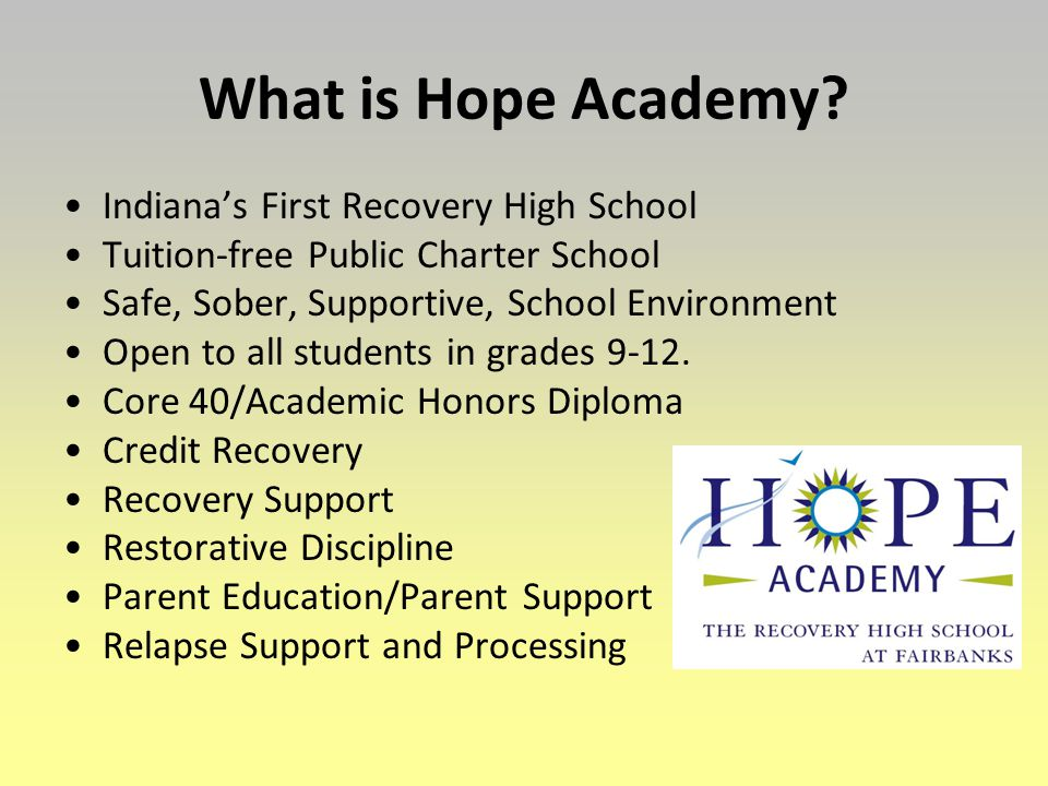 What is Hope Academy.