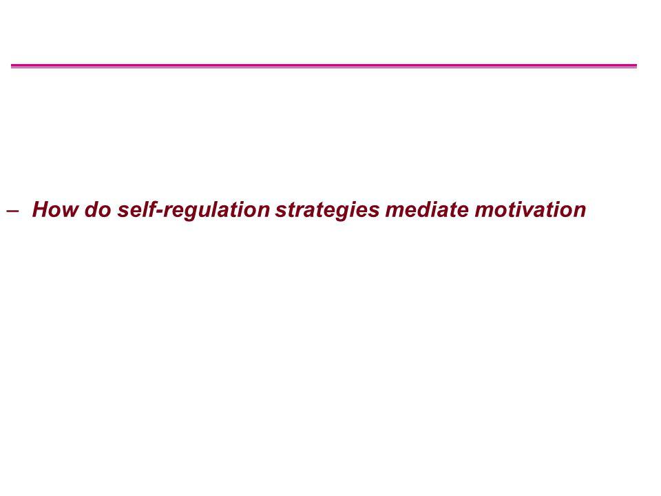 –How do self-regulation strategies mediate motivation