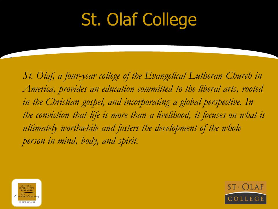 St. Olaf College St.