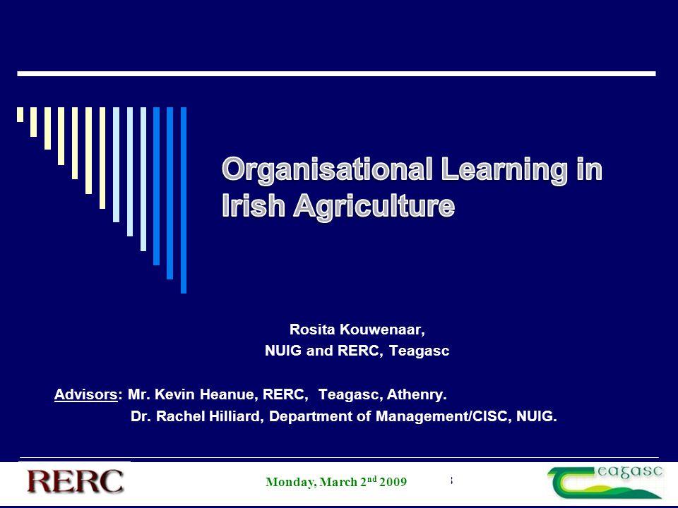 AESI Annual Student Competition 2008 Rosita Kouwenaar, NUIG and RERC, Teagasc Advisors: Mr. Kevin Heanue, RERC, Teagasc, Athenry. Dr. Rachel Hilliard,