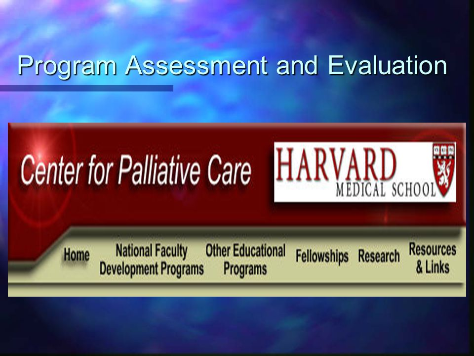 Program Assessment and Evaluation