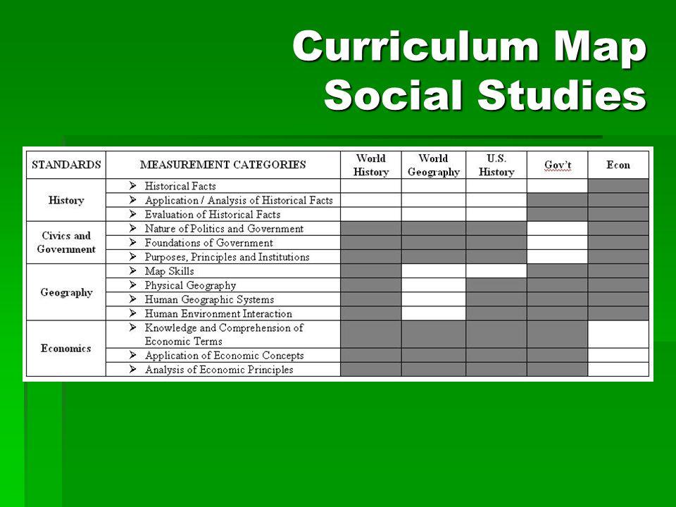 Curriculum Map Social Studies