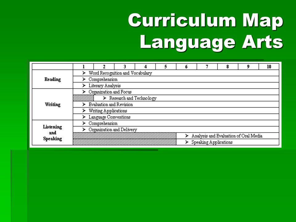 Curriculum Map Language Arts